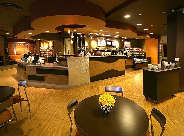 modern church interior design bookstore and coffee shop San Antonio, Texas