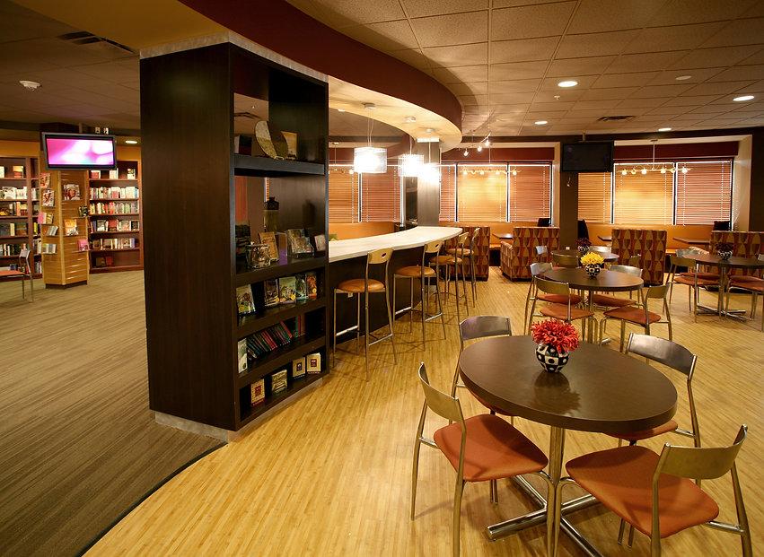 modern church interior design San Antonio, Texas bookstore