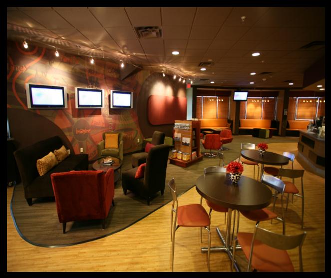 contemporary church coffee shop design