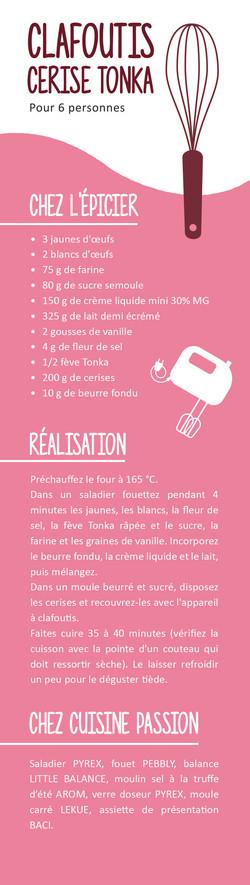 Marque-page recette