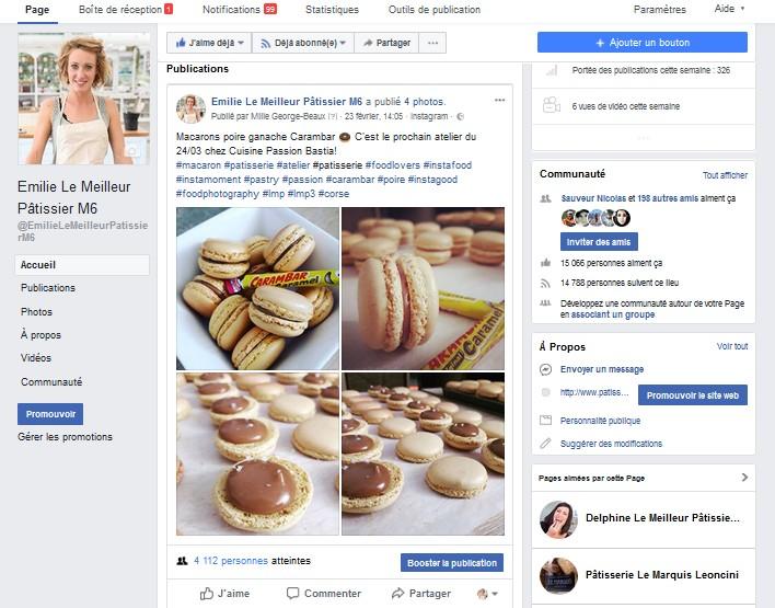 Facebook Le Meilleur Pâtissier