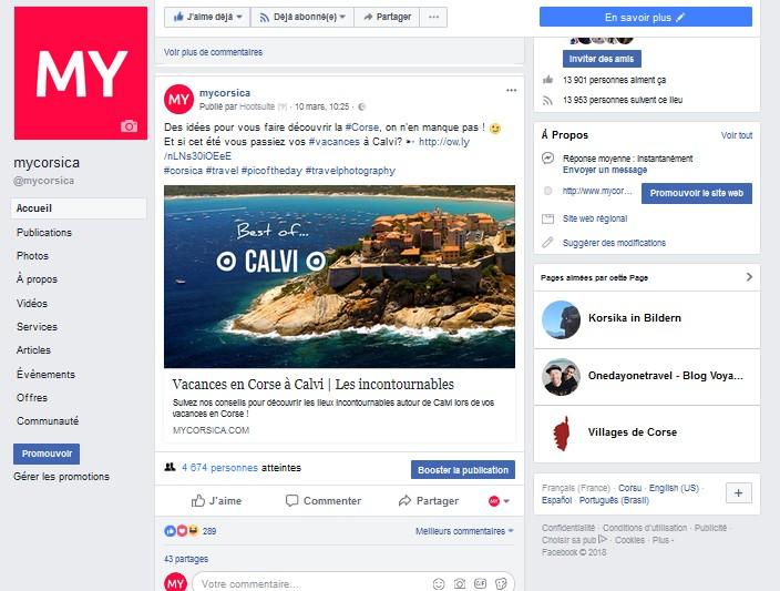 Facebook My Corsica