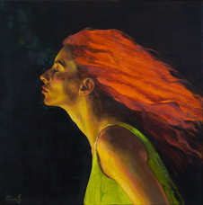 'HeadSpace II', Oil on canvas, 51x51cm, $1900