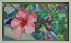 'Along the path', Oil on wood panel, 25.5x15.5cm, framed, $350