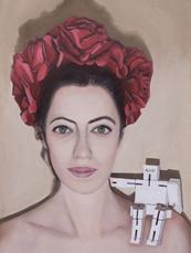 'Frida', Oil on canvas, 40X30cm, $900