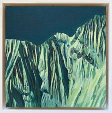 'Annapurna 3', Oil on canvas, 22X22cm, framed, $520