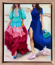 'Seasonal Trend - A Pop of Colour', Oil on linen, 28 x 23cm framed $520