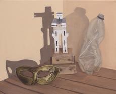 'Burning Man Culture', Oil on canvas, 30X25cm, $340