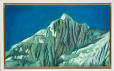 'Annapurna 2', Oil on canvas, 27X17cm, framed, $490