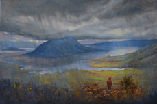 'A passing storm', Oil on stretched linen, 41.5cm x 61.5cm, $890