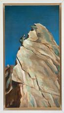 'Italian Mountain', Oil on canvas, 17X27cm, framed, $420