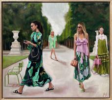 'Garden and Bloom', Oil on linen, 49 x 44cm framed $1450