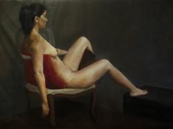Painting from life - Jenna