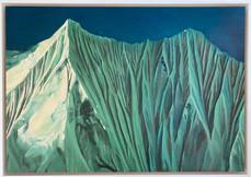 'Annapurna 1', Oil on canvas, 53X37cm, framed, $900