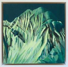'Annapurna 5', Oil on canvas, 22X22cm, framed, $520