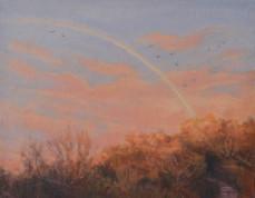 'Softly lit', Oil on canvas board, 38 x 30.5cm, framed, $590