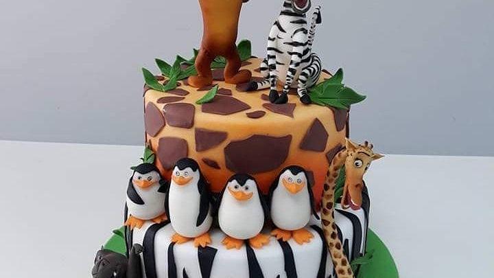 Madagascar Art Cake 1