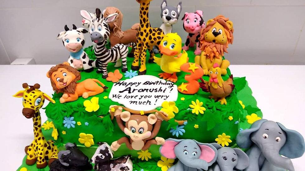 Zoo Art Cake