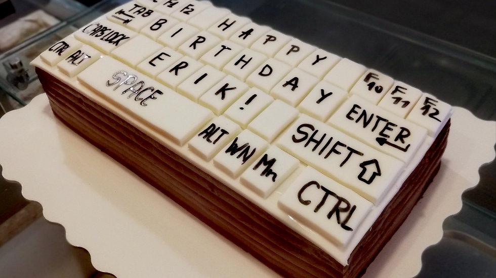 PC Keyboard Cake