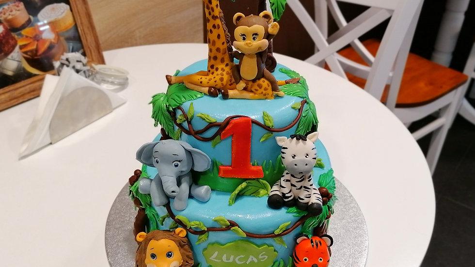 Madagascar Art Cake 2