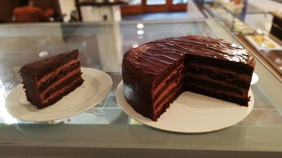 Gluten Free Walnut Chocolate Mousse Cake
