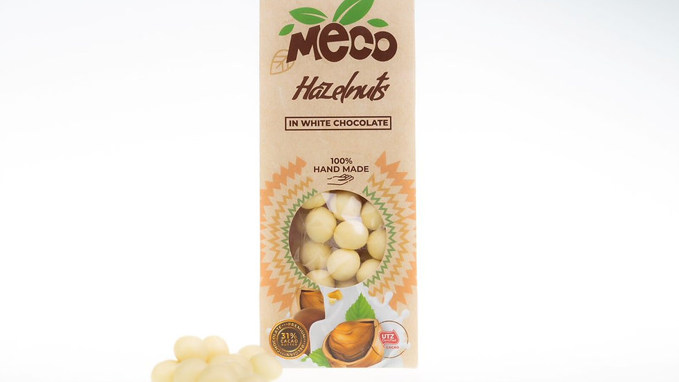 Hazelnuts in White Chocolate