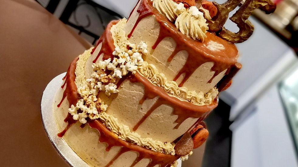 Dripped Caramel Cake