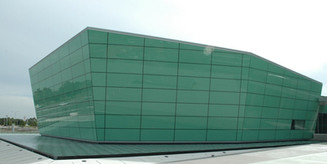 Opaque Glass Exterior Walls