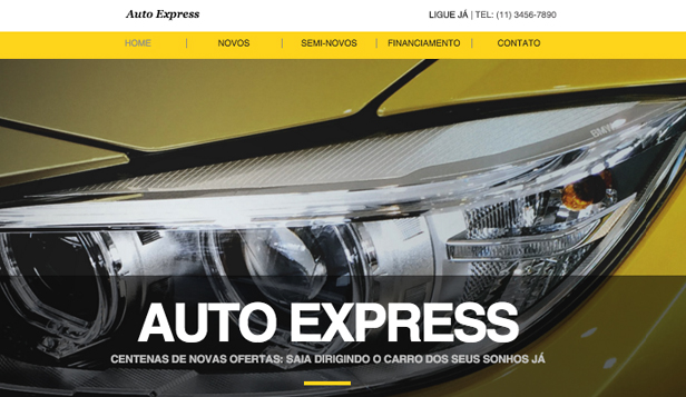 Automotivos website templates – Concessionária