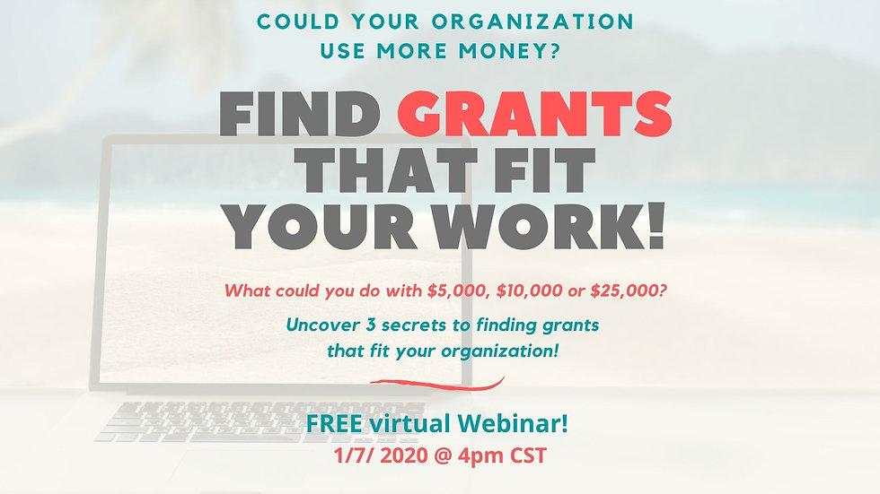 FREE virtual Webinar! 1_7_ 2020 @ 4pm CS