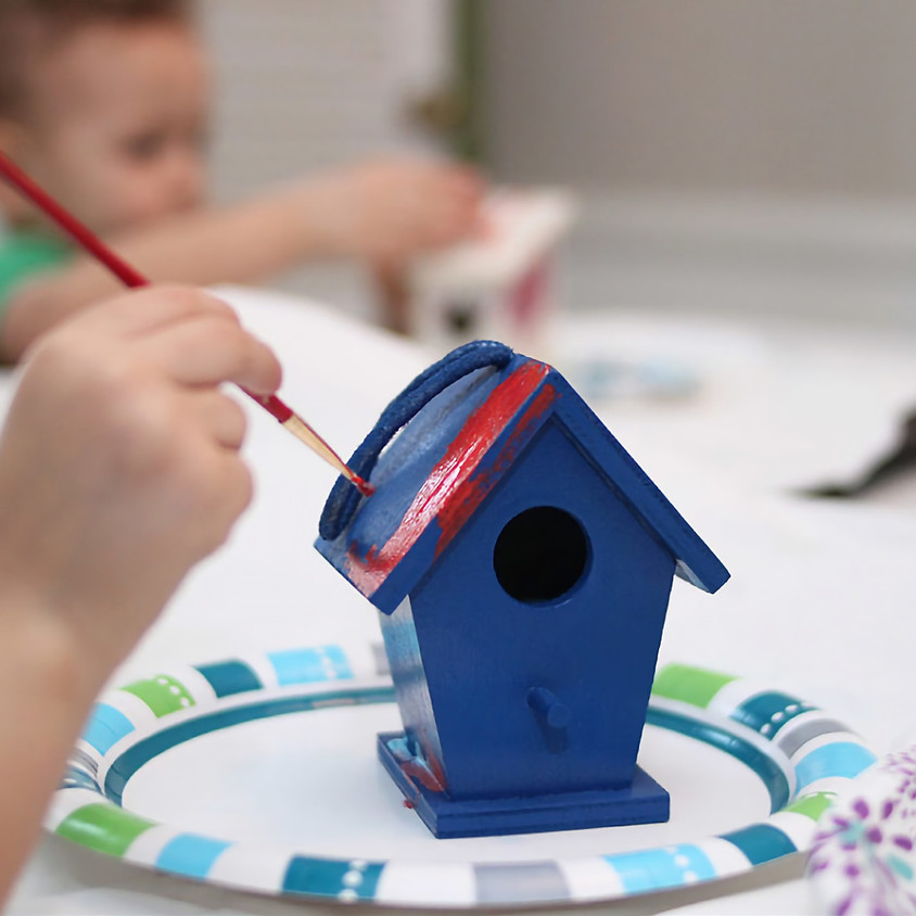 Paint a birdhouse for a Christmas Gift