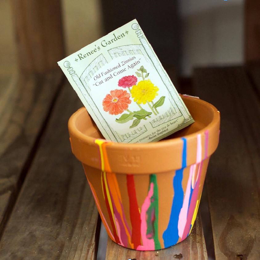 Paint a terra cotta pot for a gift