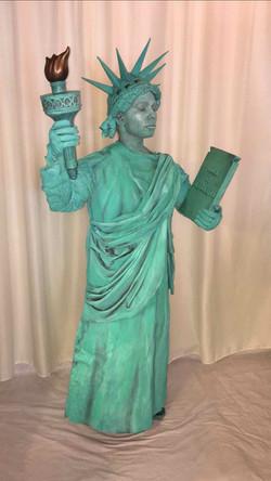 Lady Liberty Living Statue