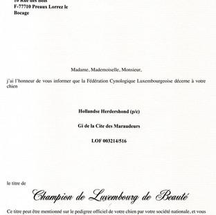 FCI Champion of Luxemburg