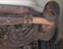 Rusted Exhaust system under car tucson repair all work's automotive