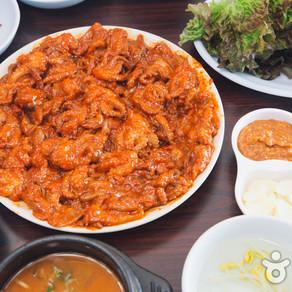 ร้านอาหาร Chungmuro Jjukkumi Bulgogi (충무로 쭈꾸미 불고기)