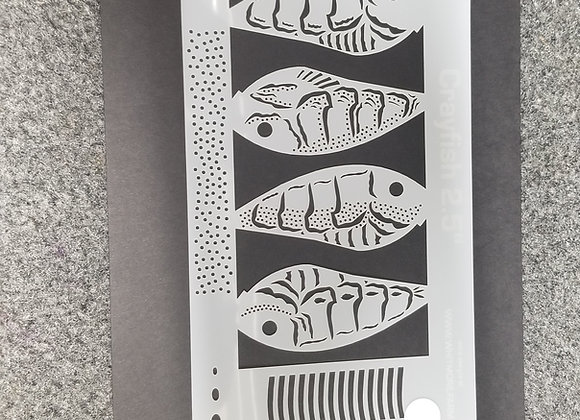 2.5 crawfish stencil