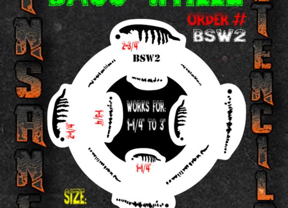 Bass wheel stencil