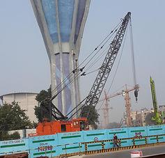 TATA TFC 75MT Crane at Delhi airport sit