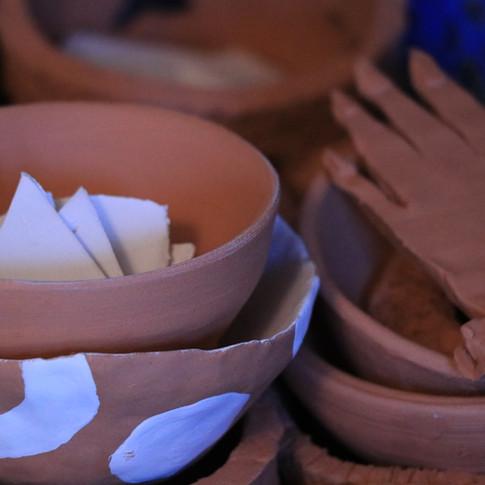 unfired pots