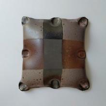 Wall Piece12 17 by 18cm Black clay