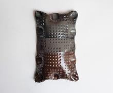 Wall Piece 12 by 19cm Black clay