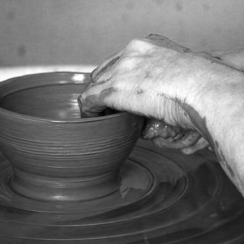 throwing a pot