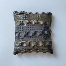 Wall Piece15 16 by 16 cm Black Clay 2020