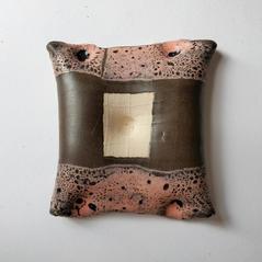 Wall Piece17 14 by 18 cm Black clay 2020 £175