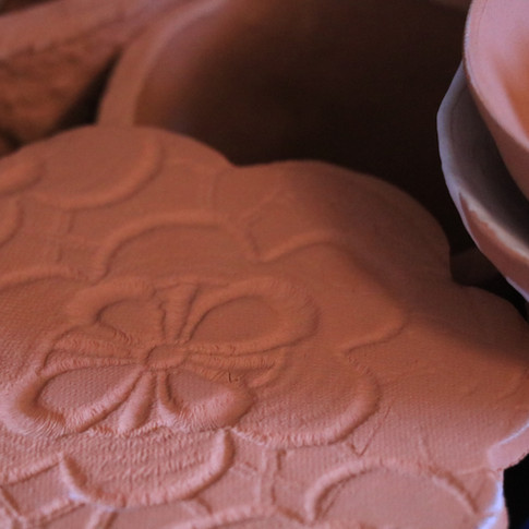 embossed clay shapes