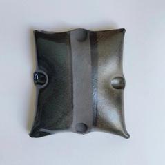 Wall Piece9 14 by 17cm Black clay  £200