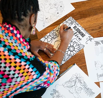 Adults, you can benefit from coloring as well!