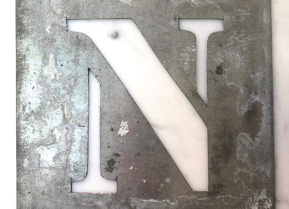 N Metal Stencil