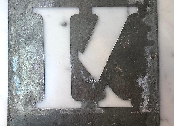 K Metal Stencil